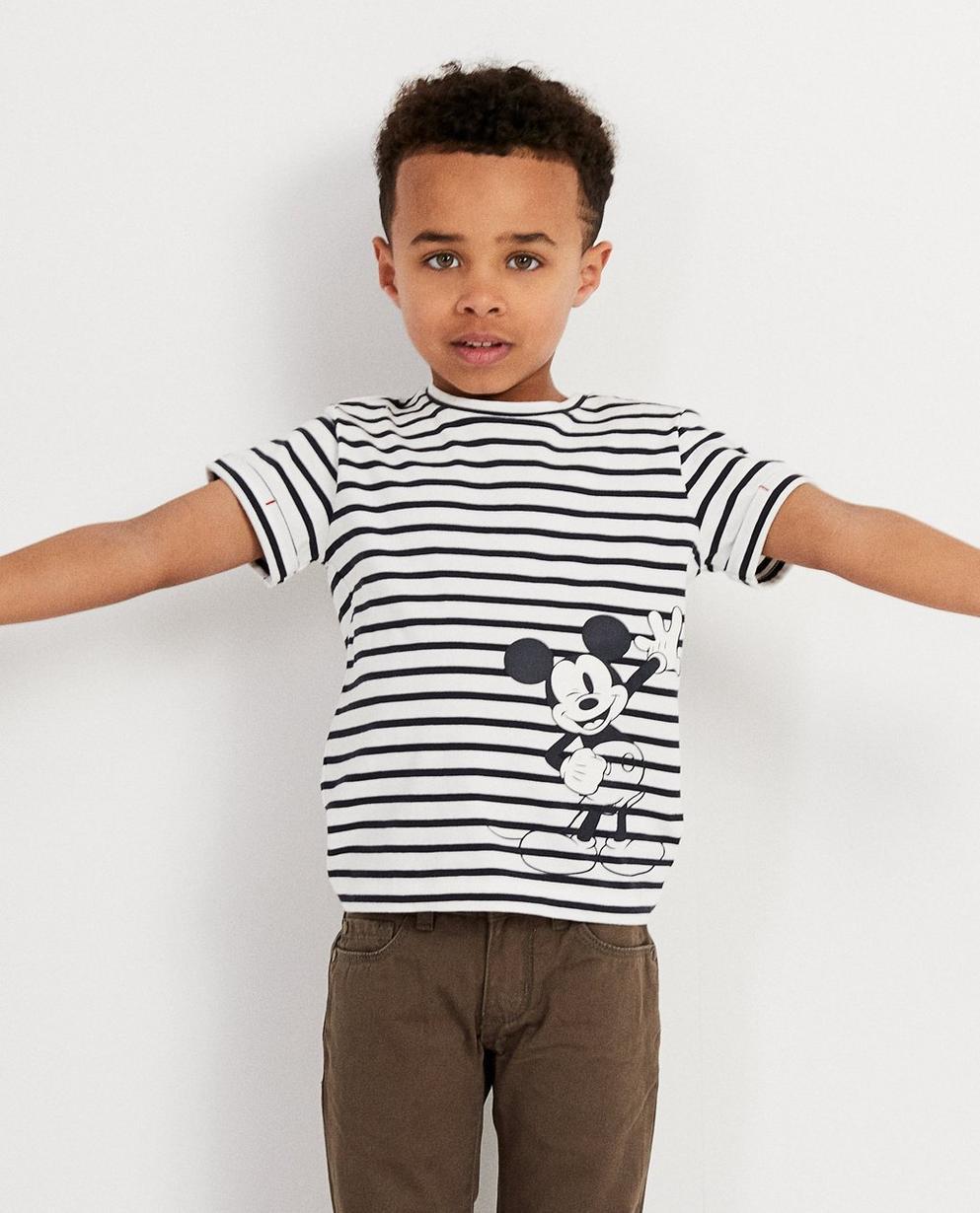 T-Shirts - AO1 - Gestreiftes T-Shirt mit Print
